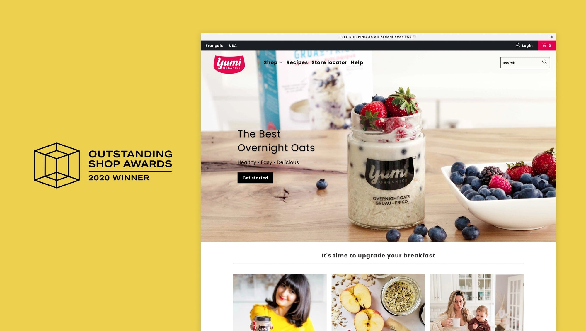 Yumi Organics: Winners of the Outstanding Shop Award for best food and drink online store