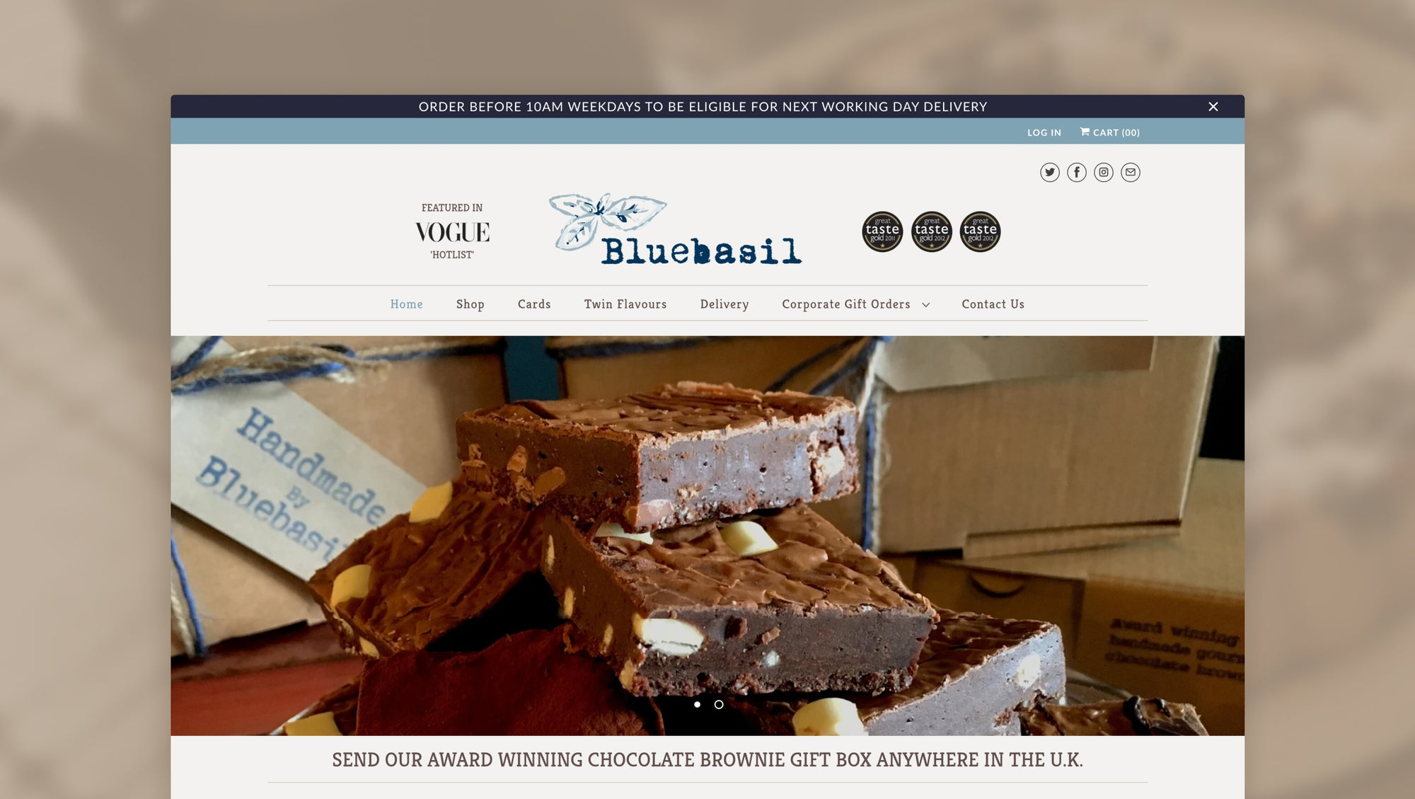 Bluebasil Brownies: Finding ecommerce success during a global pandemic