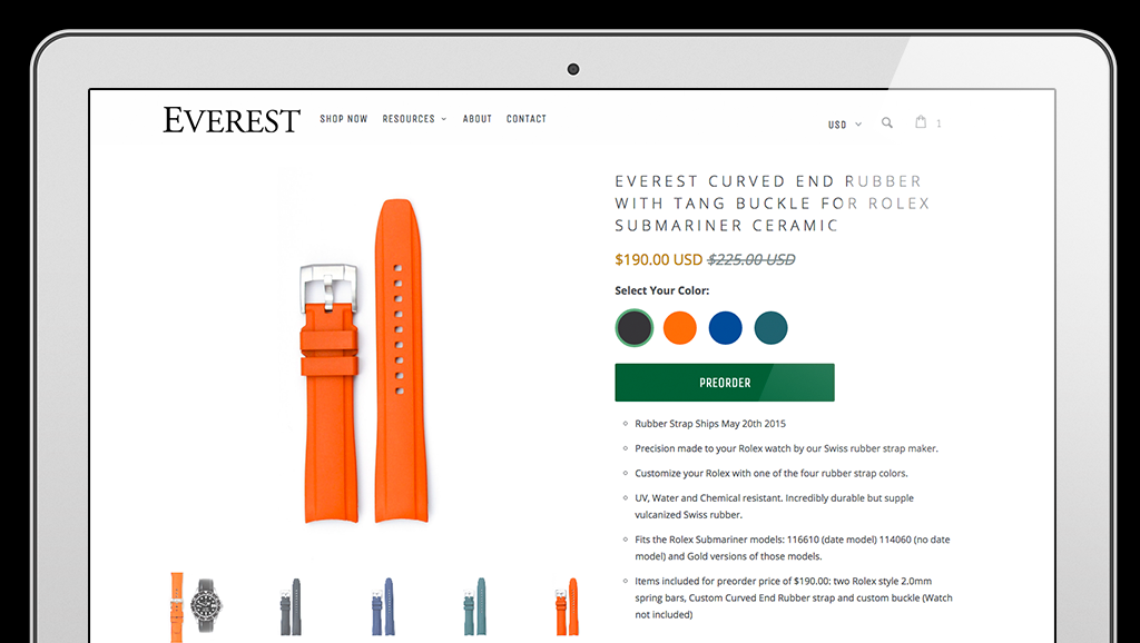 Parallax Shopify theme feature spotlight: Color swatches