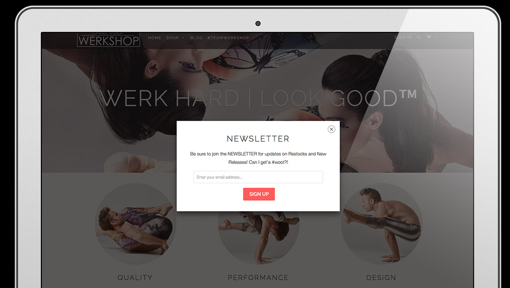 Parallax Shopify theme feature spotlight: Email newsletter form ...