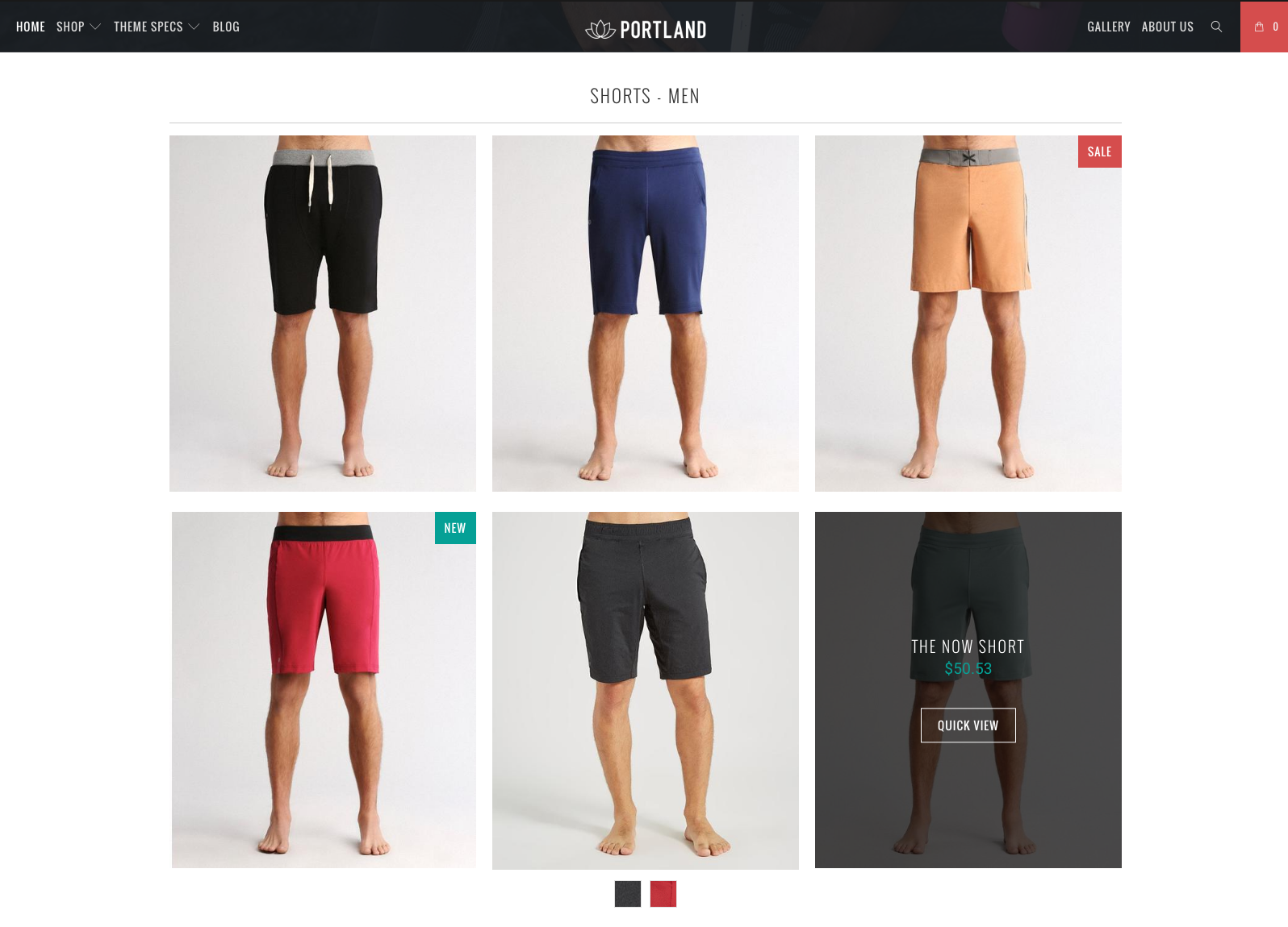 Shopify theme featured products grid