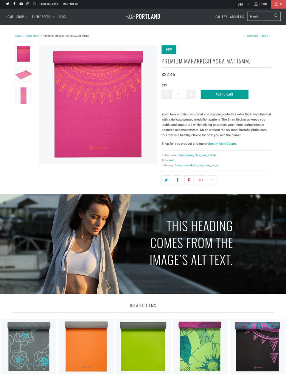 Shopify full width product images