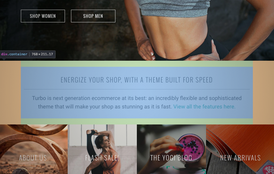 Customizing spacing between elements in Shopify themes - Out