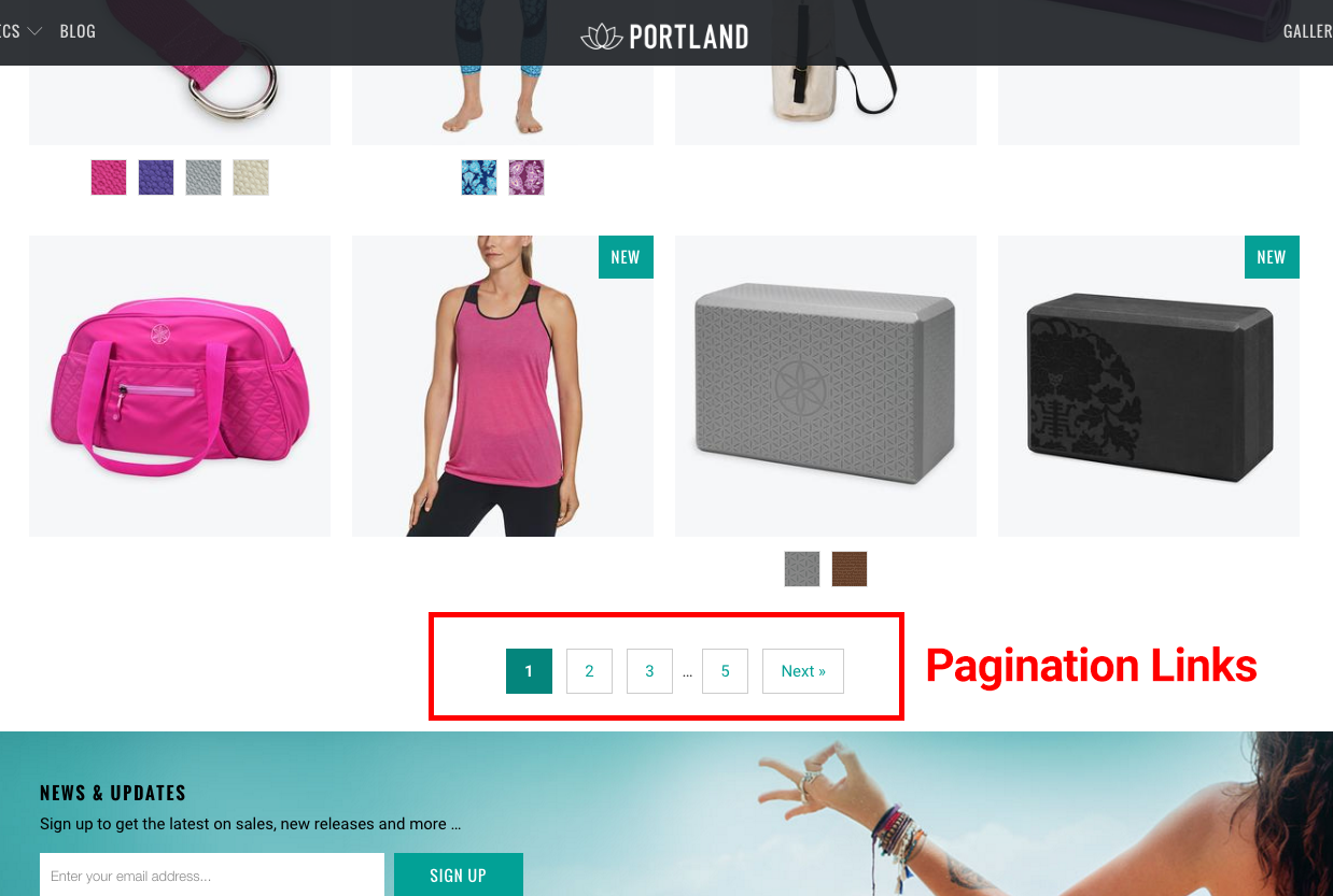 Shopify theme pagination