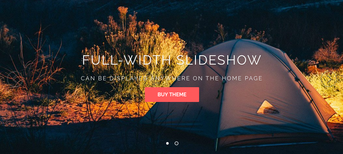 Parallax Shopify theme slideshow