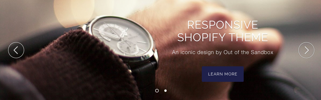Responsive Shopify theme slideshow