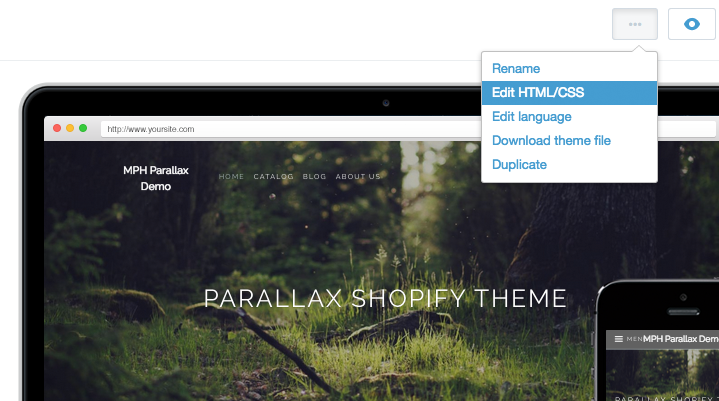 Customizing your Shopify ecommerce themes in non-destructive