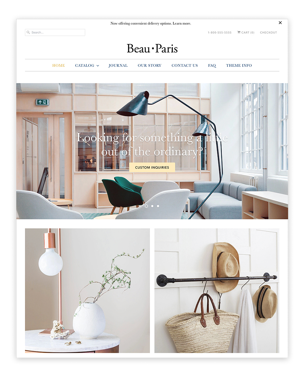Responsive Theme / Paris