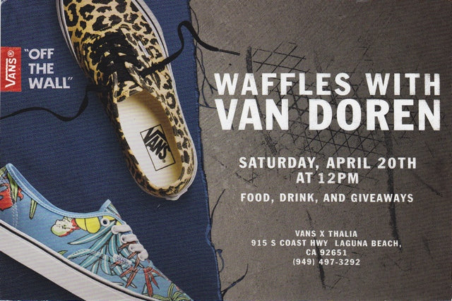 Waffles with Van Doren this Saturday