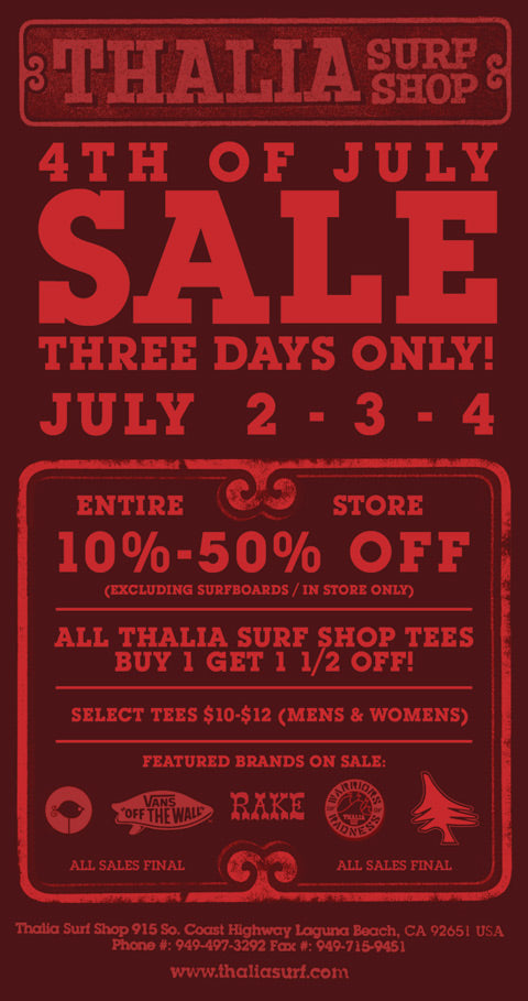 thalia surf - 4th of July Sale