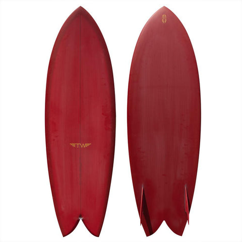 "Captain Fin Tyler Warren Wine 10.5"" Surfboard Fin"