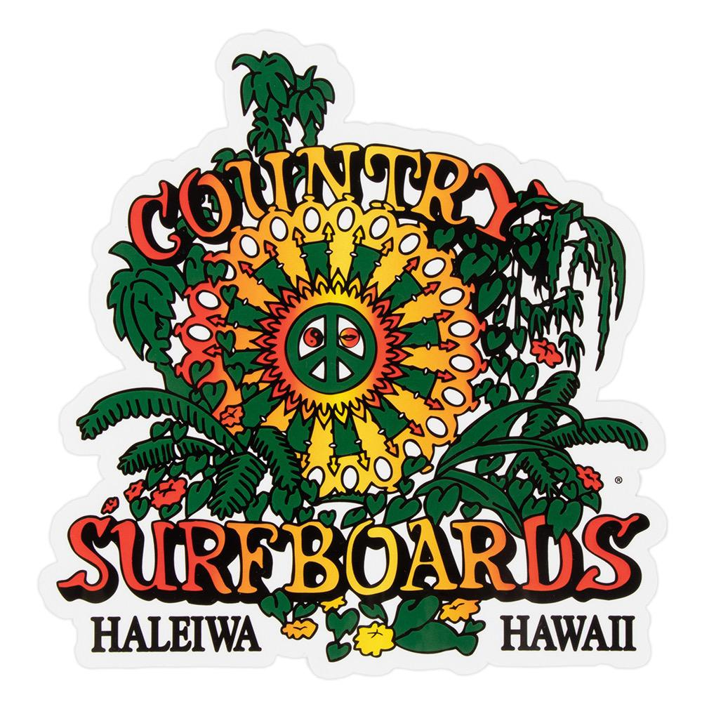 Country Surfboards Sticker