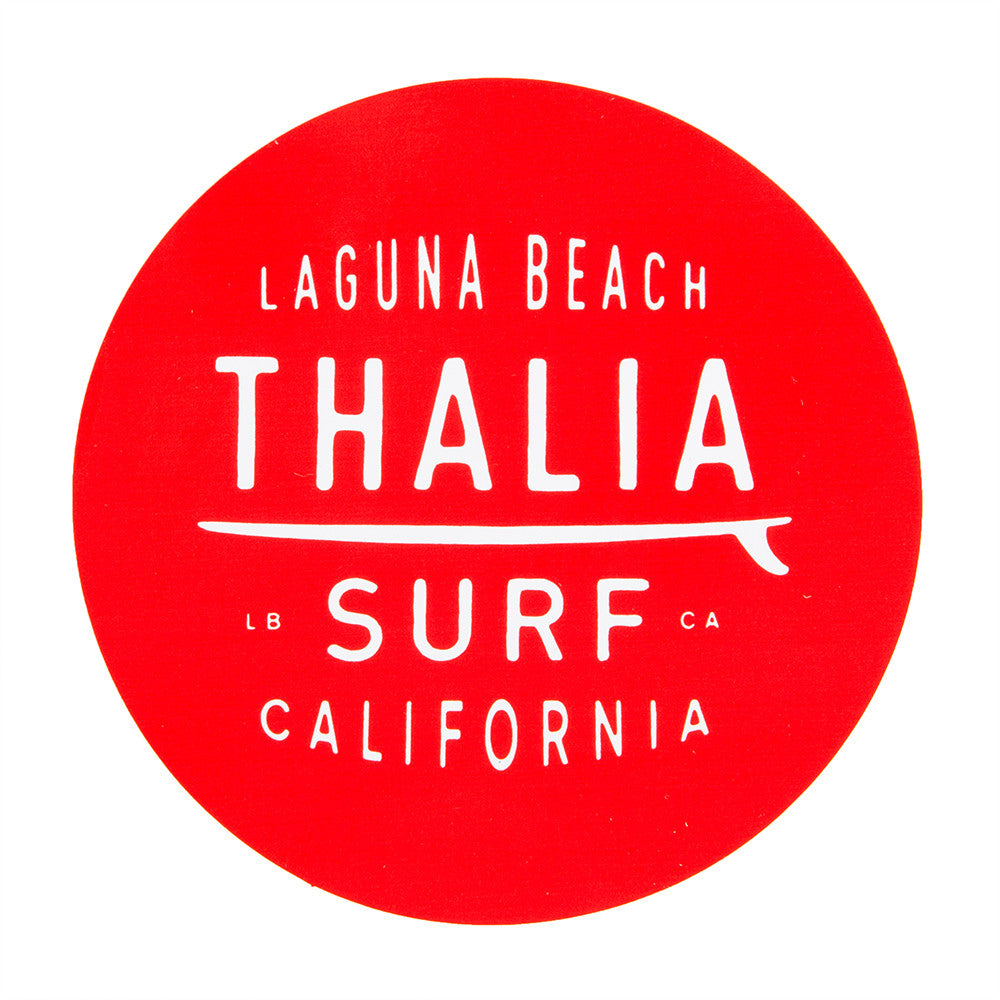 "Thalia Surf Dot Red Large 4"" Sticker"