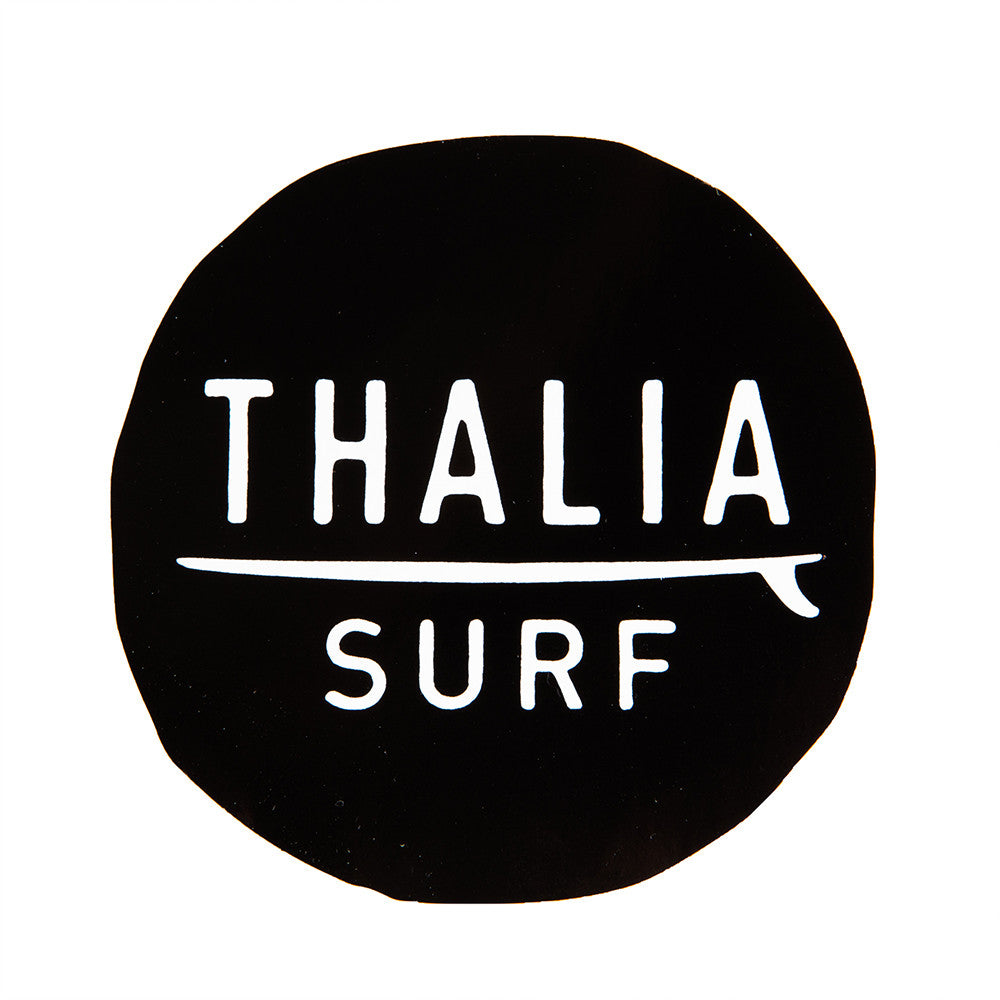 Thalia Surf Dot Black Small Sticker