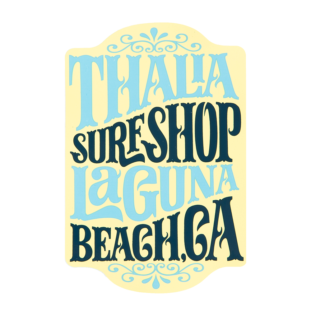 "Thalia Surf Whip Cream 5"" Sticker"