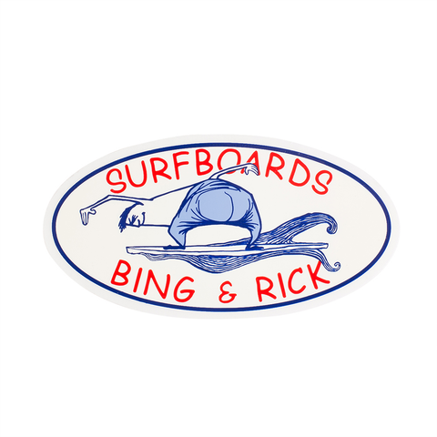 Rick Surfboards Double Bubble Sticker