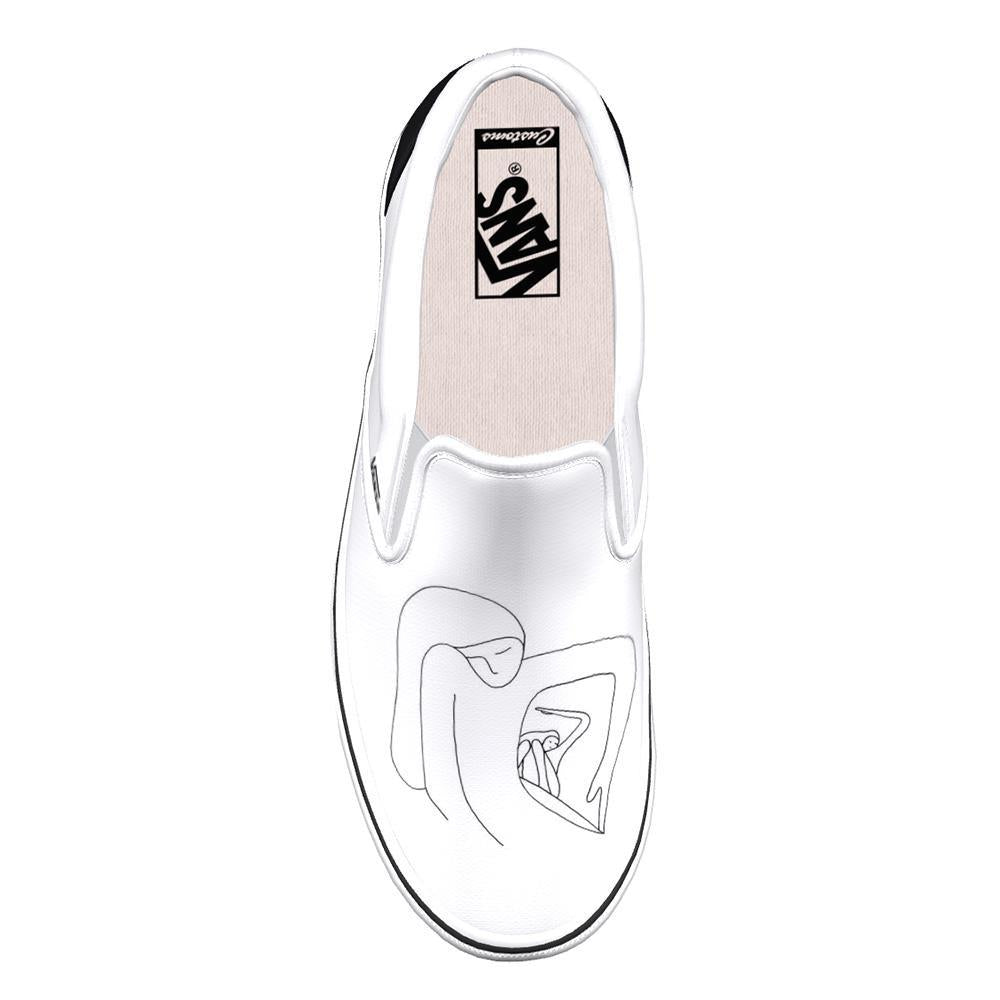 Vans Foot the Bill Custom Geoff McFetridge x Thalia Surf Slip-On Shoes