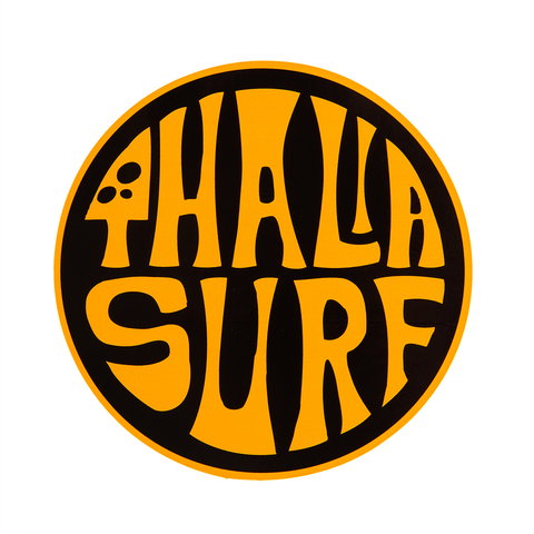 "Thalia Surf Dot Navy Large 4"" Sticker"