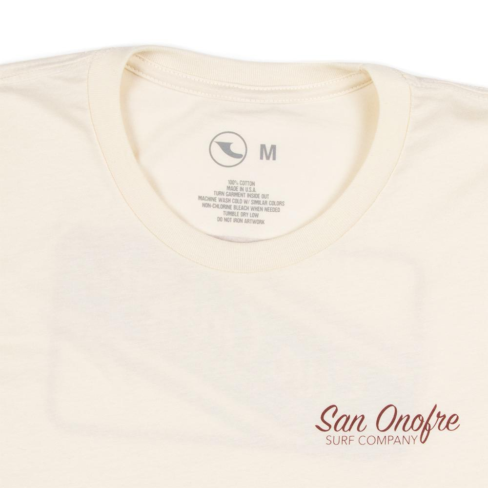 San Onofre Surf Co Striper Patch Mens Tee