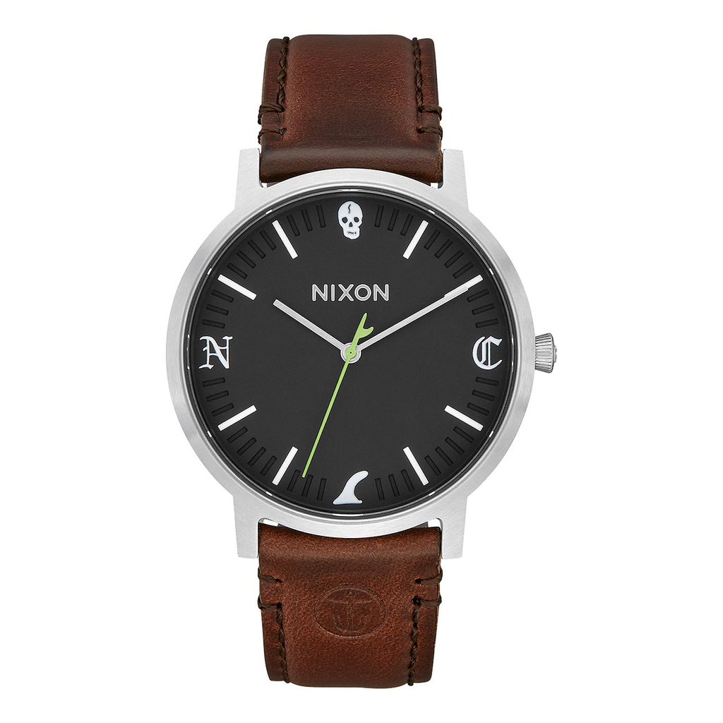 Nixon x Captain Fin Porter Leather Watch