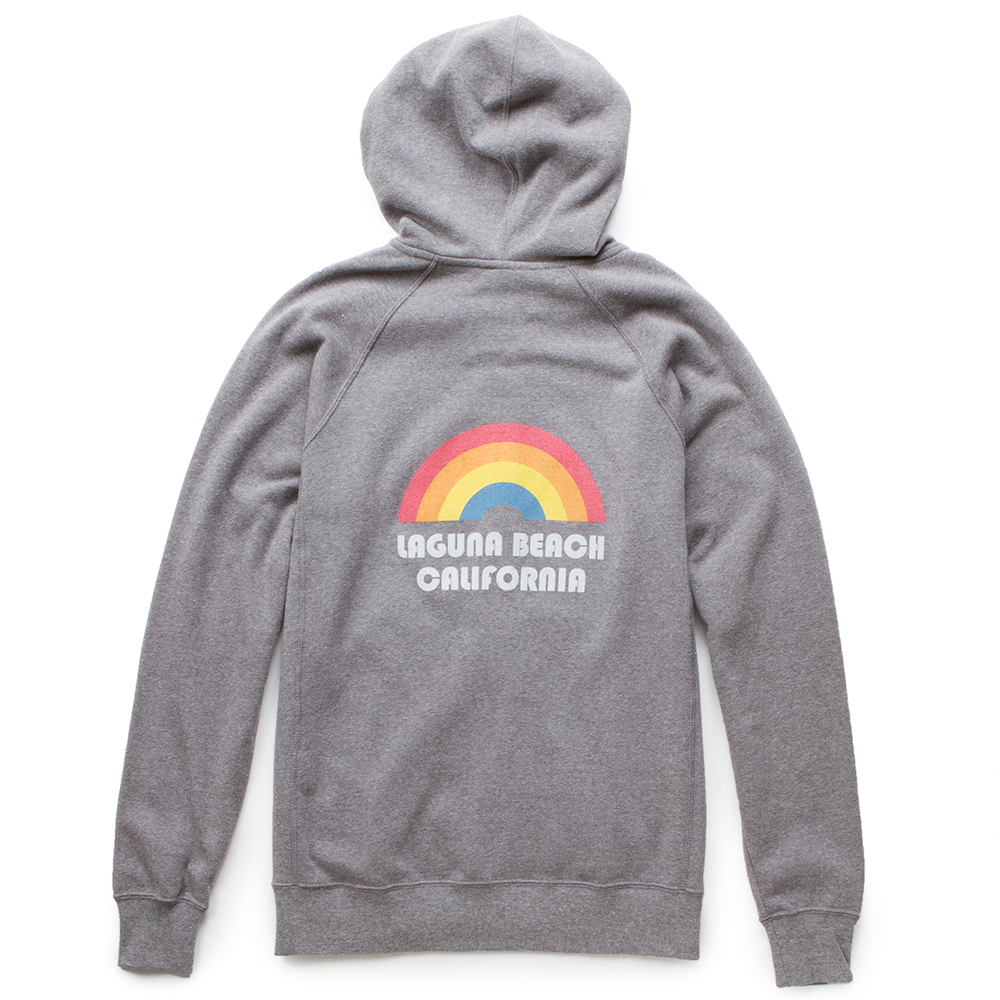 Thalia Surf Rainbow Zip Up Womens Fleece