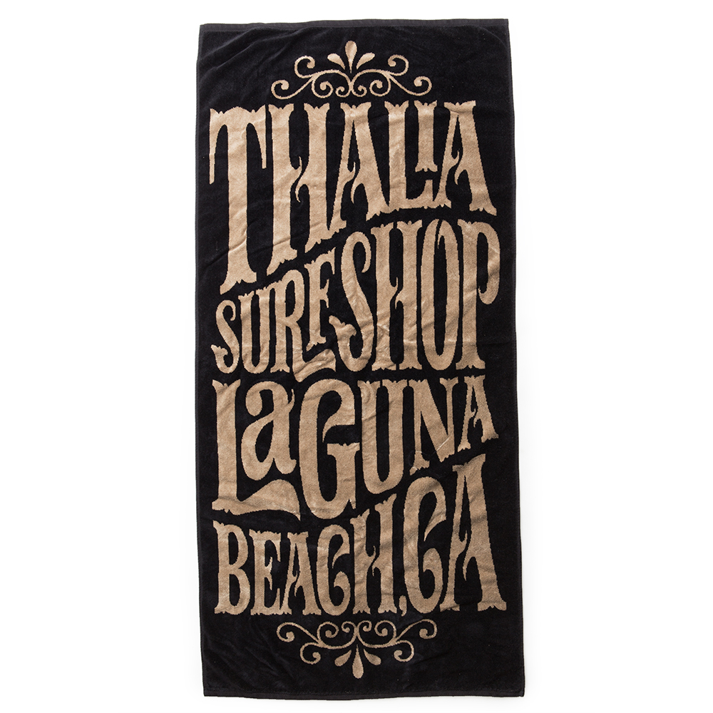 Thalia Surf Whip Cream Yellow/Black Towel