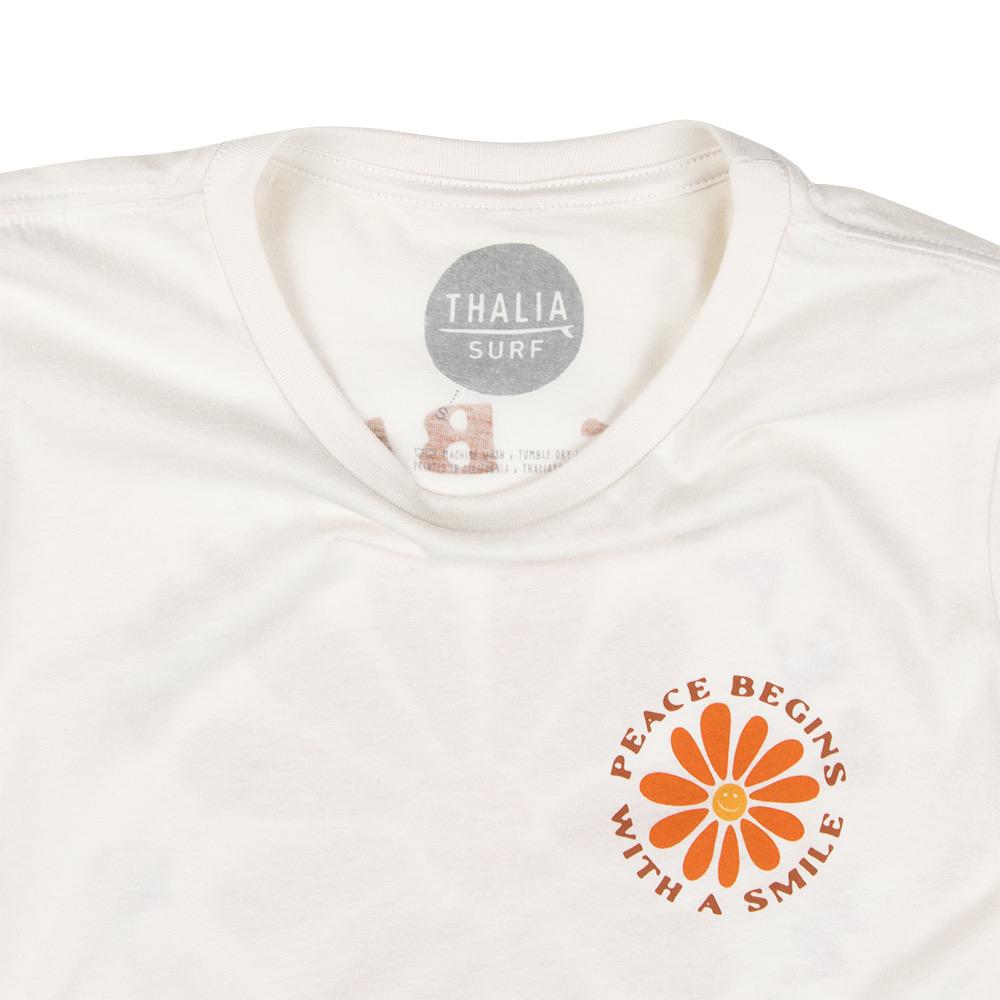 Thalia Surf Peace Begins With a Smile Womens Tee