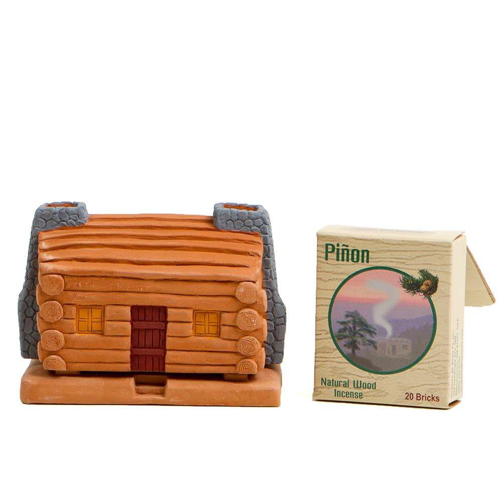 Incienso Log Cabin w/ Pinon Incense