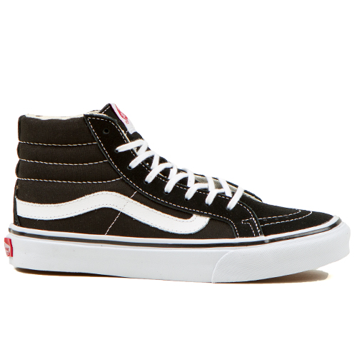 0c0602ba36548 Vans Classics Sk8-Hi Slim Womens Shoes. $64.95. Color. Black/True White