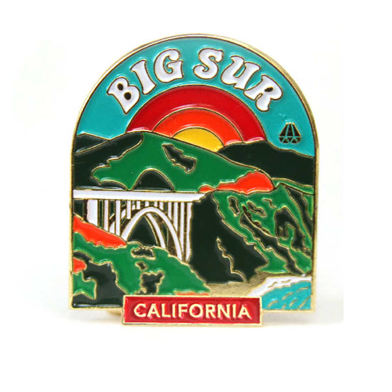 Odds and Sods Big Sur Enamel Pin