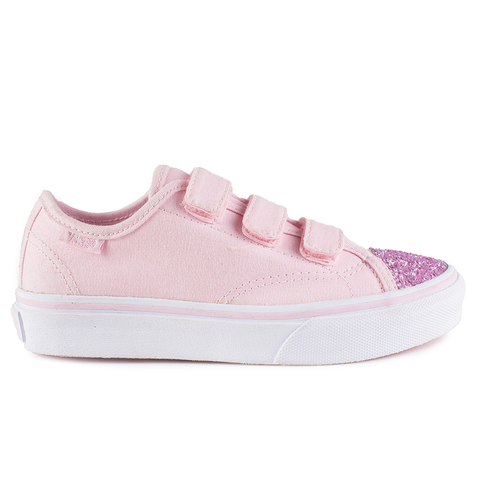 77715f8f57 Vans Kids Style 23 V 2 Tone Metallic Mahogany Rose True White Angle 5
