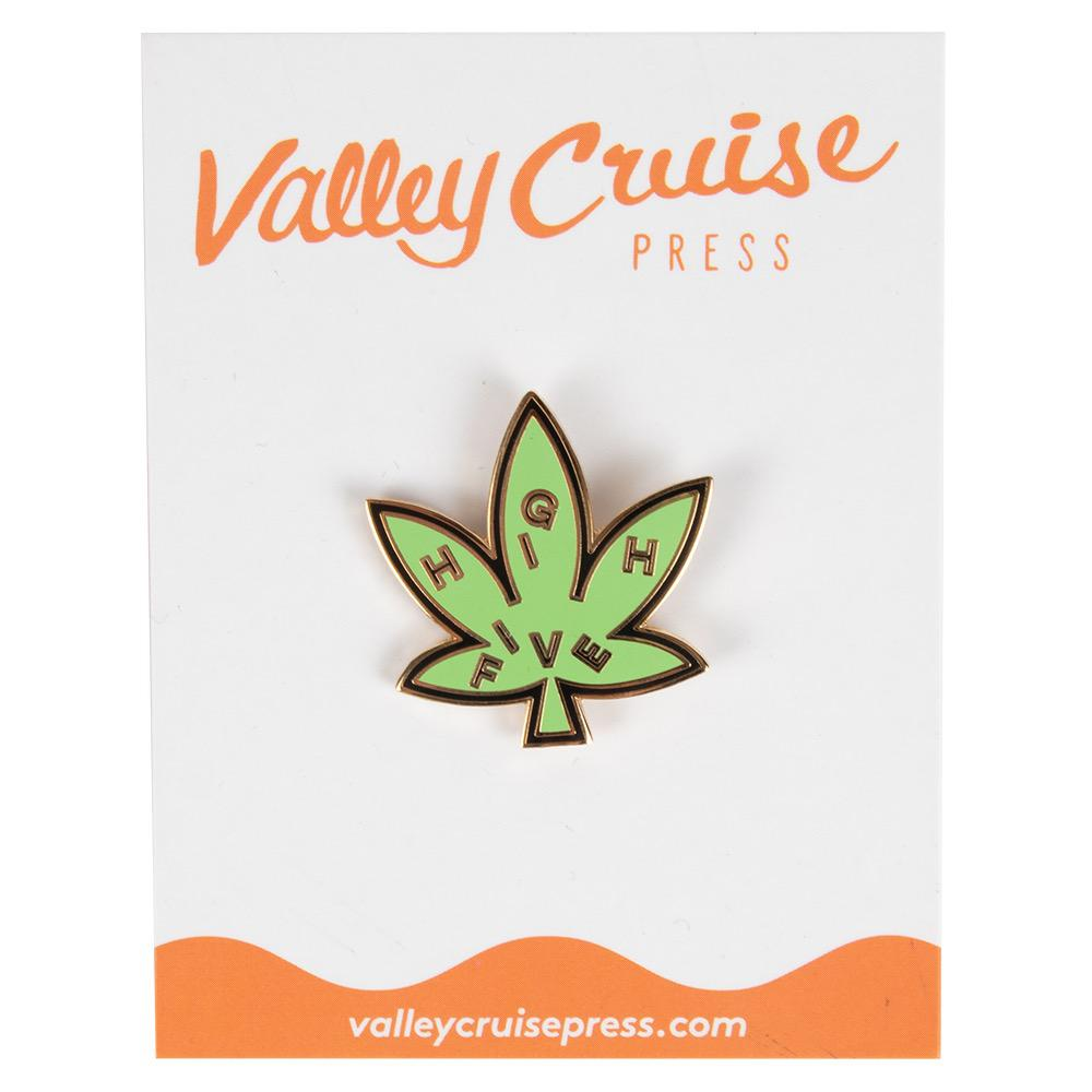 Valley Cruise High Five Leaf Enamel Pin