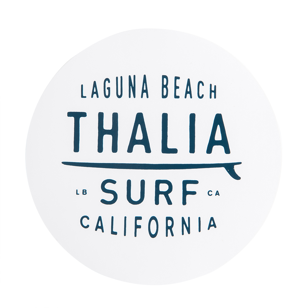 "Thalia Surf Dot White Large 4"" Sticker"