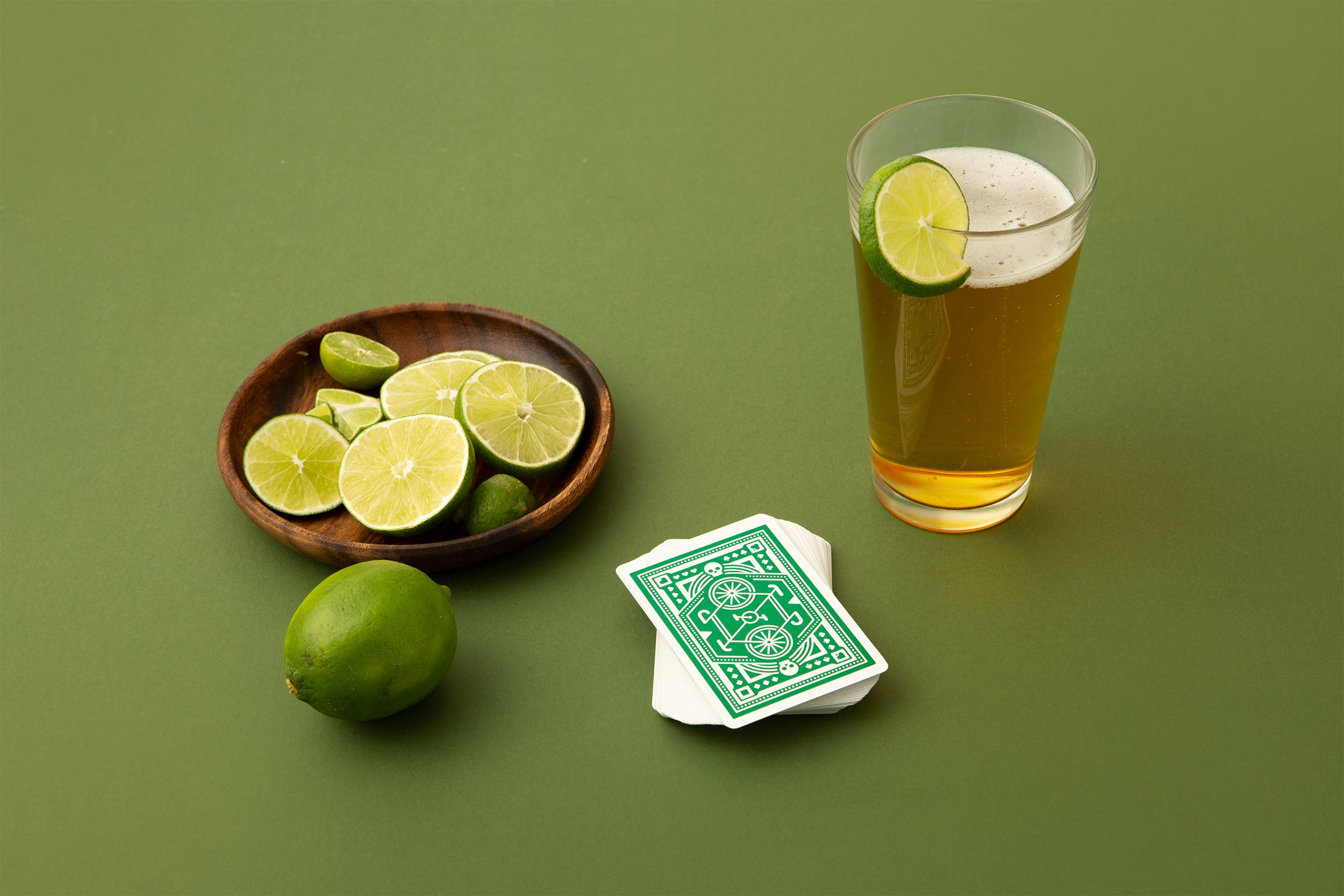 DKNG Green Wheel Playing Cards