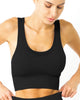Love Your Body Mesh Seamless Bra With Cutouts - Black