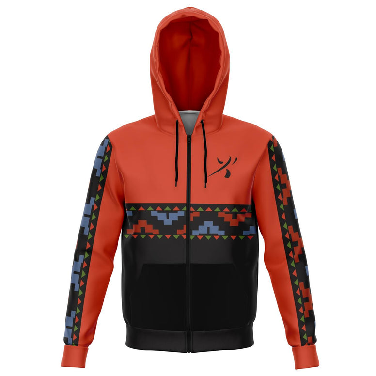 Animal Kingdom Print Zip Hoodie by Heather French Henry