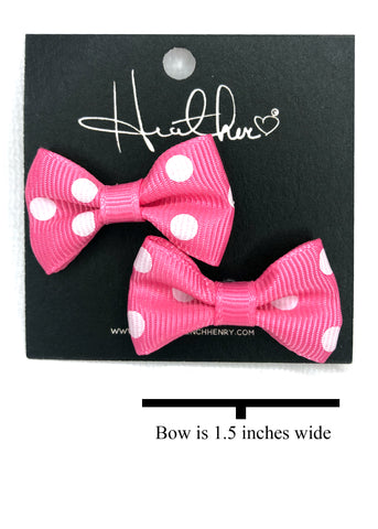 Pink Minnie Bow Tie Earrings
