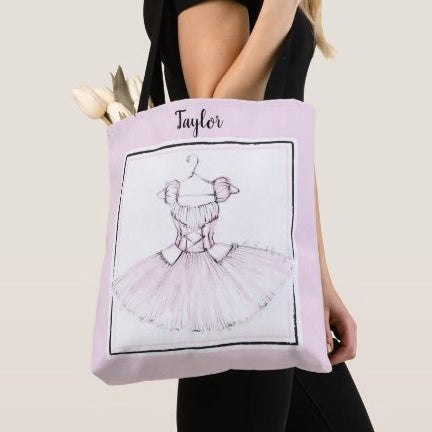 Personalized Ballerina Girl Tote