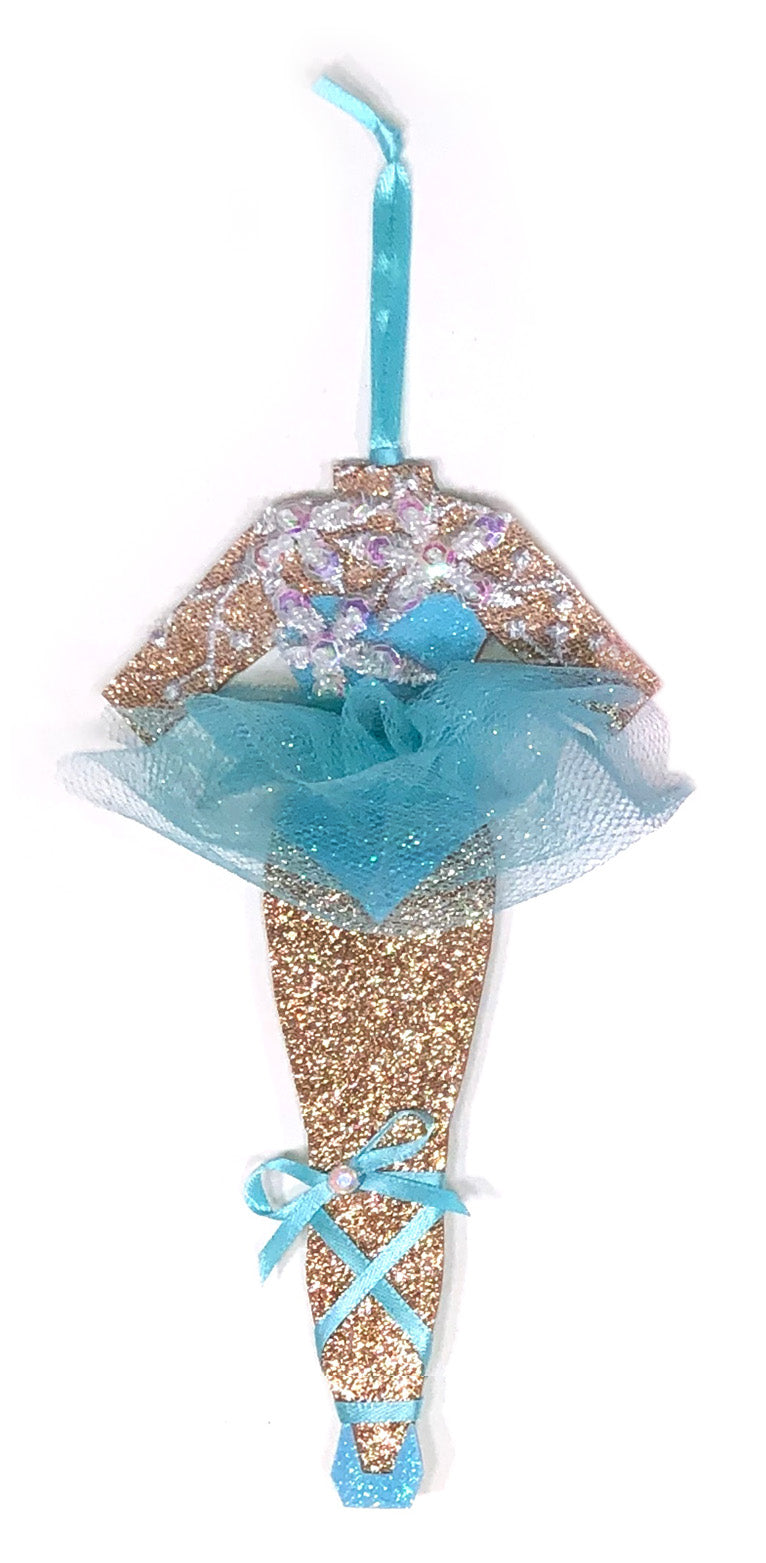 Blue Lake Ballerina Christmas Ornament by Heather French Henry