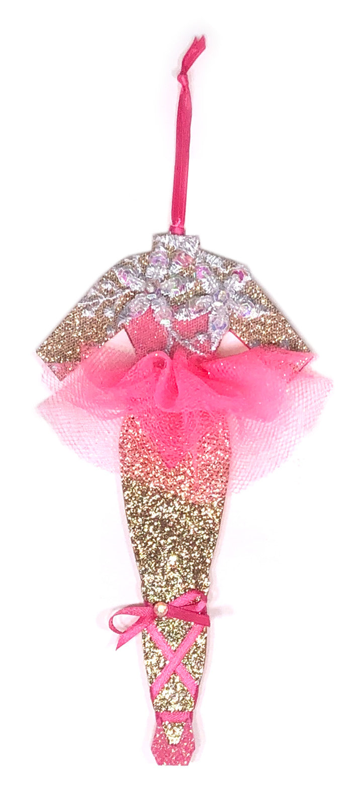 Sugar Plum Pink Ballerina Christmas Ornament by Heather French Henry