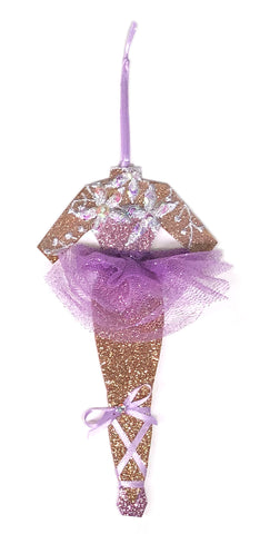 Lavender Dream Ballerina Christmas Ornament by Heather French Henry