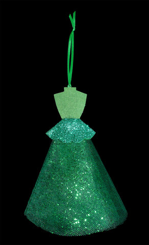 BRAND NEW! Dreaming of A White Christmas Green Chorus Girl Christmas Ornament!