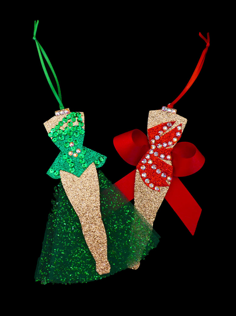 White Christmas Chorus Girls Ornament Set