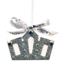 Silver Crystal Crown Christmas Ornament