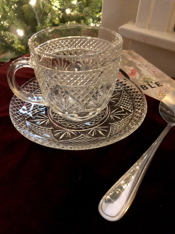 Vintage Crystal Tea Cup Set