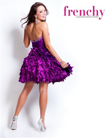 HPM1103 Violet Purple French Prom Dress