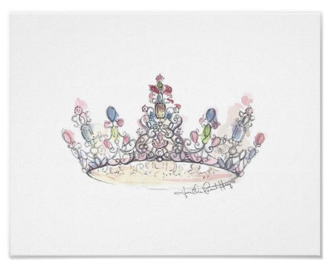 Jewel Crown Print by Heather French Henry - FREE SHIPPING