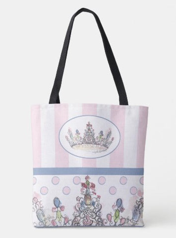 Jewel Crown Print Tote