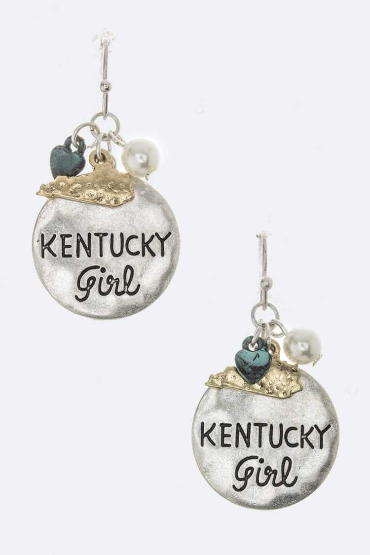KENTUCKY Girl Mix Charm Earrings
