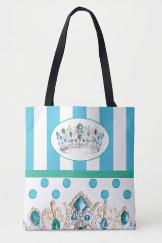 King Louis Crown Print Tote
